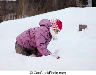 Baby At Snow