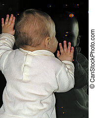 baby at window