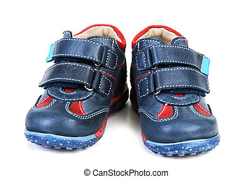 Baby atheletic footwear insulated on white background