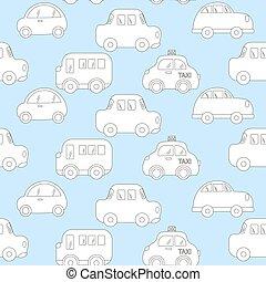 baby background for boys. Vector of Transportation blue car pattern vector illustration