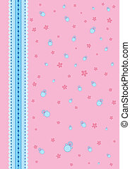 Baby background pink