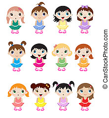 Baby ballerinas - A set of cute little baby ballerina...