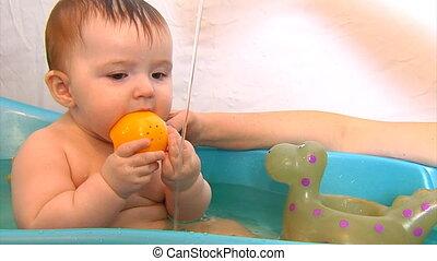 baby bath time part 2