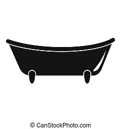 Baby bathtube icon, simple style