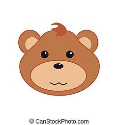 Baby bear face
