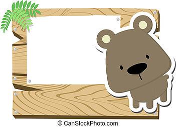 baby bear signboard