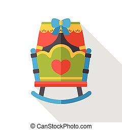 baby bed flat icon