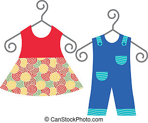 baby beklæder, hængning, bøjle klæder