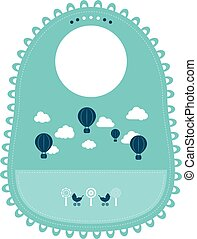 Baby Bib For Eating Food Isolated On A White Background. Vector Illustration.