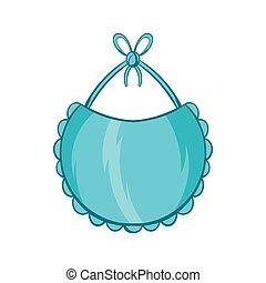 Baby bib icon, cartoon style - Baby bib icon in cartoon...