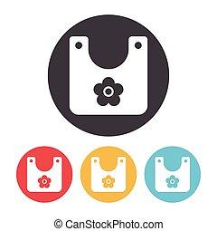 Baby bib icon