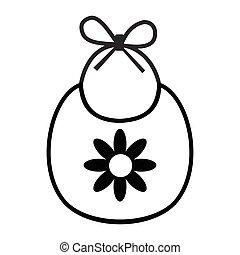 Baby bib simple icon