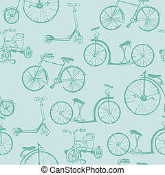 Baby Bicycle Background - for design and scrapbook - in vector