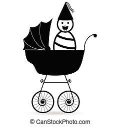baby black illustration