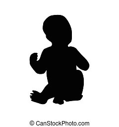 Baby black silhouette