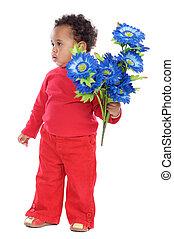 baby, bloemen