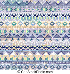 Baby blue tribal print - seamless vector background