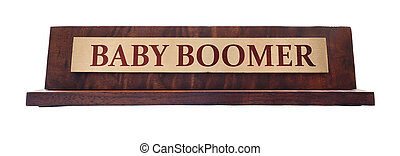 Baby Boomer name plate - Wooden nameplate with Baby Boomer ...