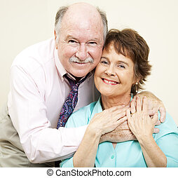 Baby Boomers In Love - Loving portrait of good looking...