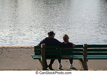 Baby Boomers - Senior Citizens at the Park