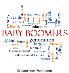 Baby Boomers Word Cloud Concept with great terms such as...