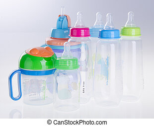 baby bottle, baby bottle on background - baby bottle, baby...