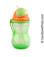 baby bottle isolated