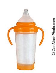Baby bottle isolated on white