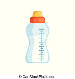 Baby bottle of milk vector Illustration on a white background