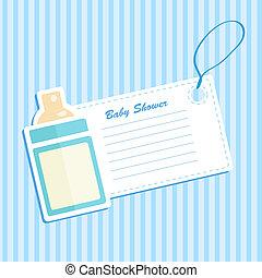 Baby bottle shower. Invitation card