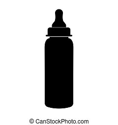 Baby bottle symbol black color icon .