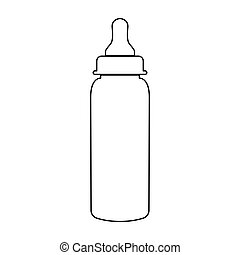 Baby bottle symbol black color path icon .