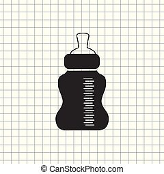 Baby Bottle Vector Icon