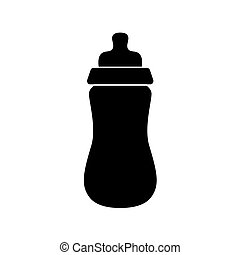 baby bottle with pacifier icon