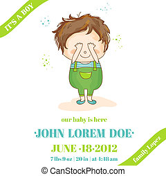 Baby Boy Arrival or Shower Card - in vector