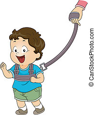 Baby Boy Backpack Leash - Illustration of a Baby Boy...