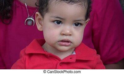 Baby Boy Being Shy