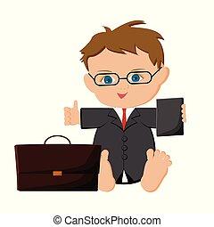 Baby boy businessman.