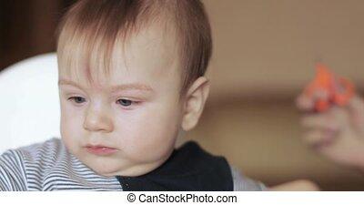 Baby boy cut hair at home