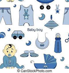Baby boy design pattern
