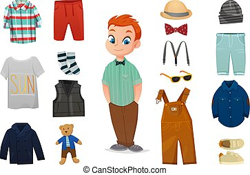 Baby Boy Fashion Icon Set