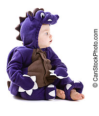 Baby boy in costume - Young baby boy dressed in halloween...