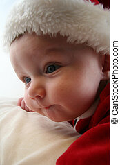 Baby Boy in Santa Claus Outfit - Baby Boy wearing a Santa...