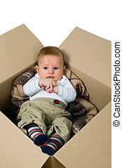 Baby boy in the box