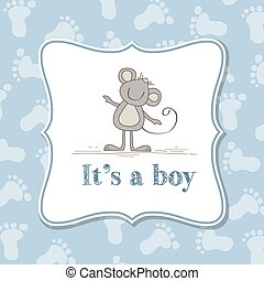 Baby boy invitation for baby shower