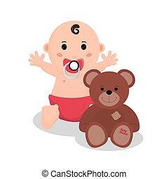 Baby boy of baby shower card design