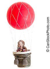 baby boy on hot air balloon