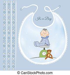 baby boy shower announcement