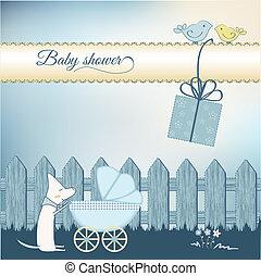 Baby boy shower aouncement