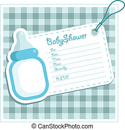 Baby Boy Shower card. - Baby shower invitation.